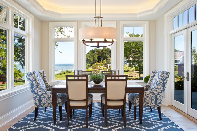 Emmett Transitional Cottage Beach Style Dining Room