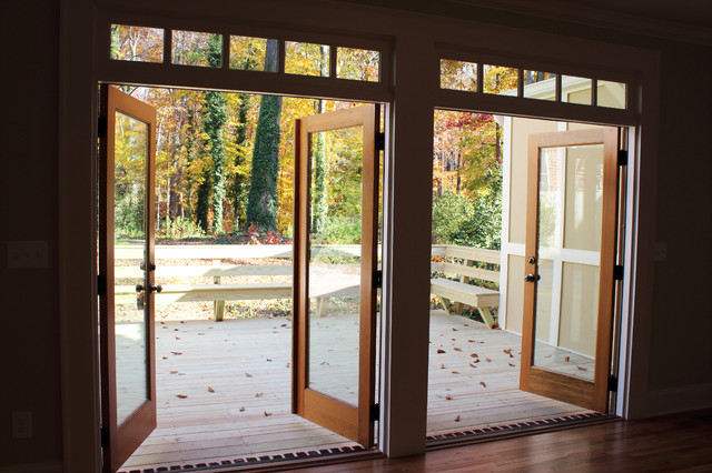 emory french doors traditional dining room