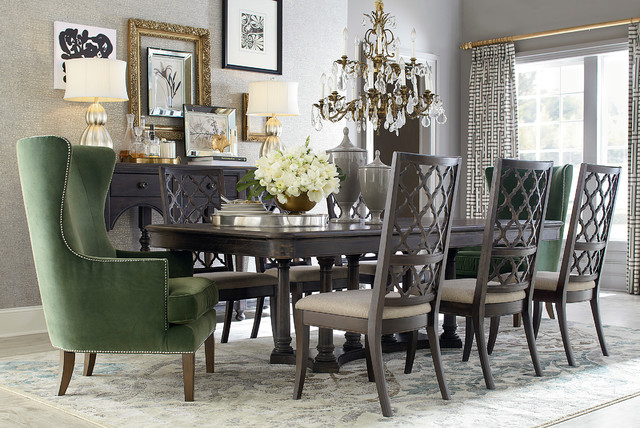 emporium rectangular dining table by bassett furniture