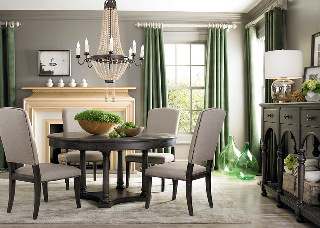 emporium round dining table by bassett furniture