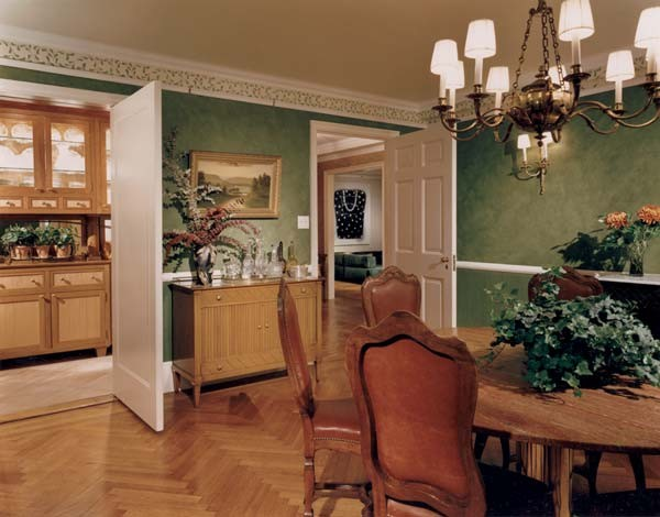 Empty Nesters Create A Bit Of Tuscany In The Midst Of NYC mediterranean-dining-room