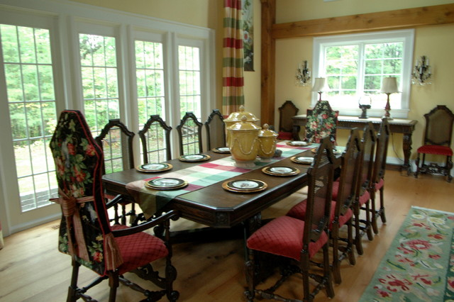 English Country Cottage Traditional Dining Room