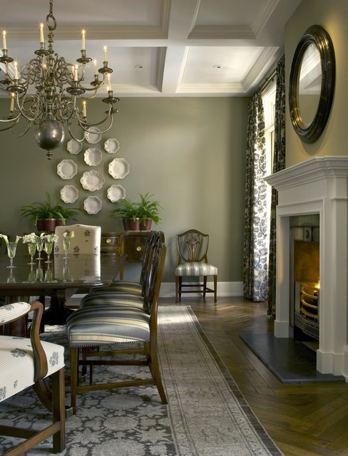 English Country House Traditional Dining Room