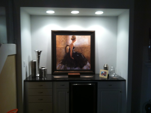 Entertainment Center To Wine Bar Contemporary Dining