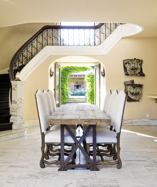 Entry/Dining mediterranean dining room