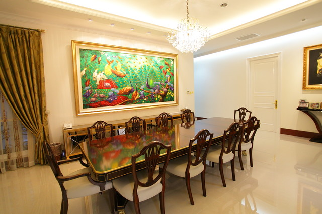 Erlangga Residence eclectic-dining-room