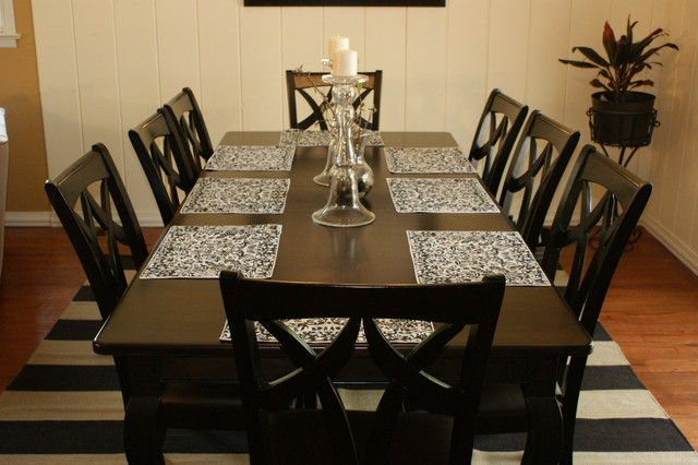 Espresso Stain Dining Room Table Traditional