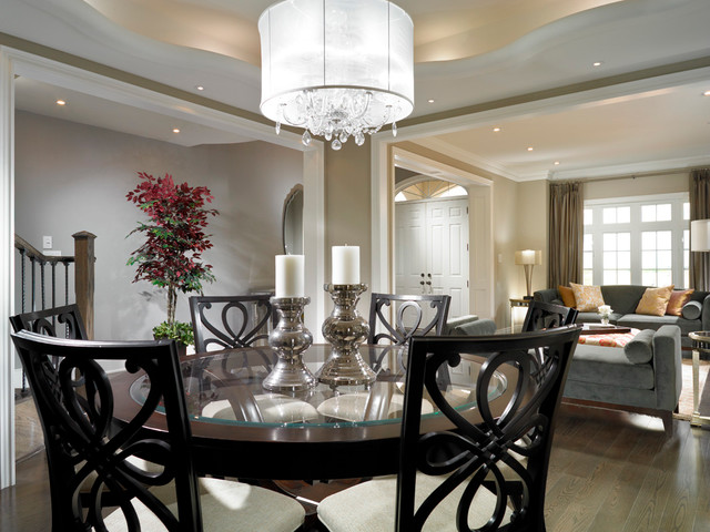 Estate Model Home Brampton Contemporary Dining Room