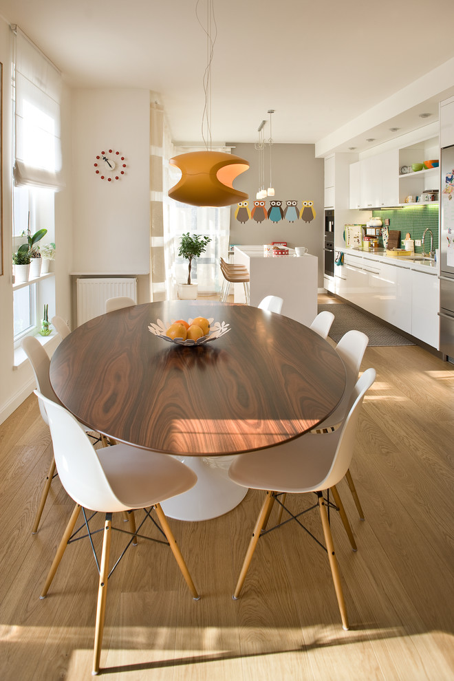 European Apartment Contemporary Dining Room Other By Olga Bakic Architect