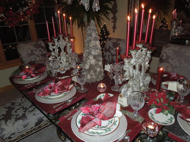 European Contemporary Christmas Dining Room traditional-dining-room