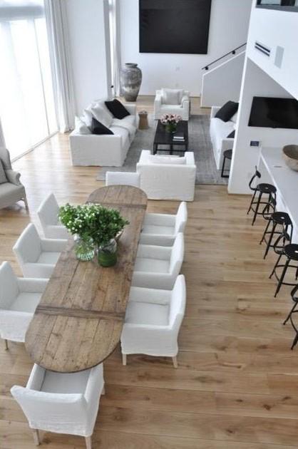 "European White Oak 10' x 10"" Flooring - contemporary - dining room"