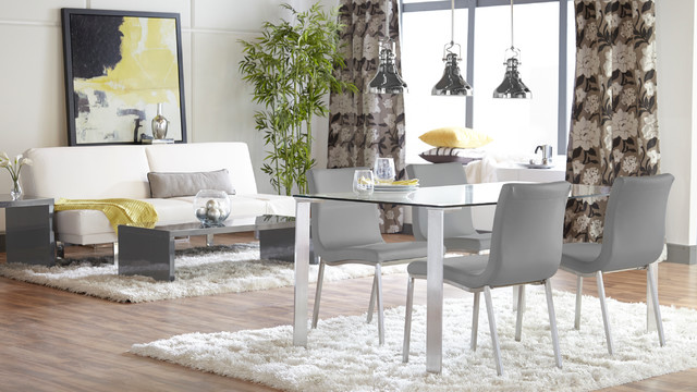 Eurostyle Beth Dining Table And Scott Side Chair Contemporary Dining Room