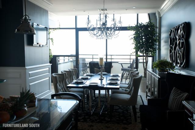 Executive Penthouse Apartment Modern Dining Room
