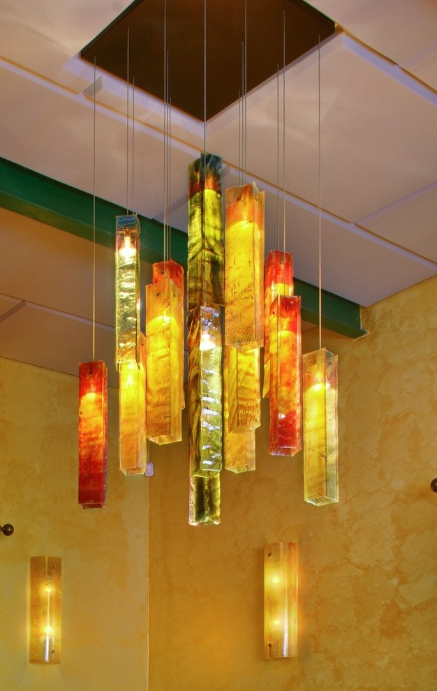 Exotic candles - custom chandelier - Tropical - Dining ...