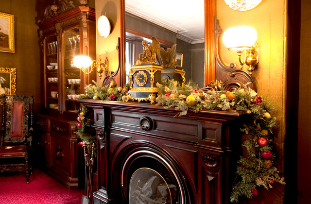 Gibson House Dresses Up For Christmas Traditional Dining Room