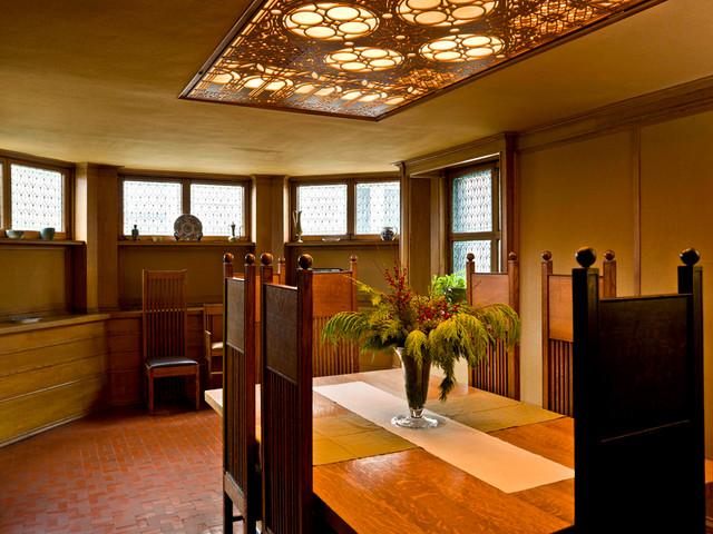 Frank lloyd wright home studio traditional dining room chicago by cynthia lynn photography - Frank lloyd wright ceiling fan ...