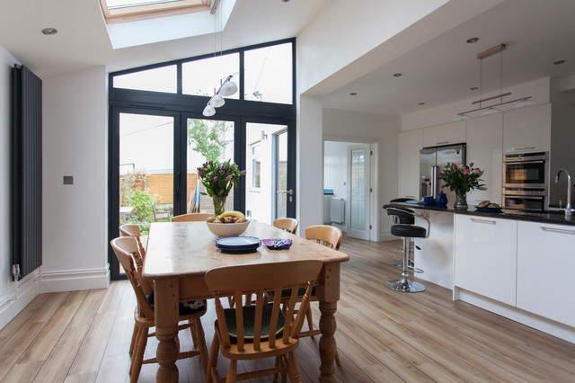 Extension To An Edwardian House In Bristol Contemporary Dining Room