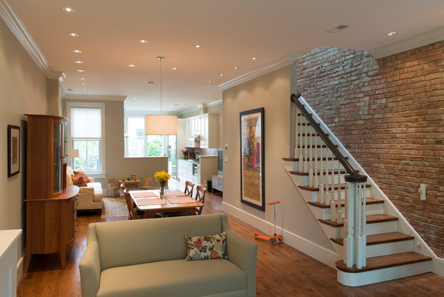 F Street Row House Interior Renovations Transitional