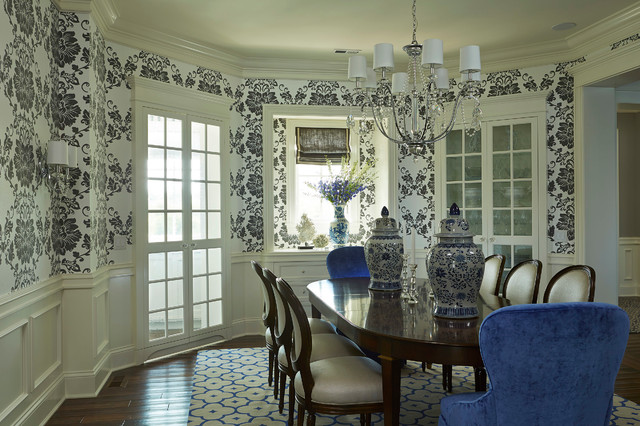 Fairhope Avenue Residence transitional-dining-room