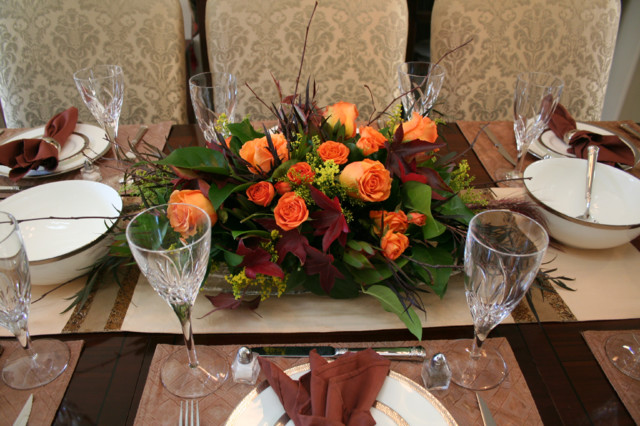 Fall Floral Arrangements Ideas Traditional Dining Room