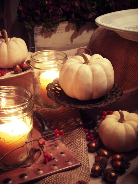 Fall Tablescapes traditional-dining-room