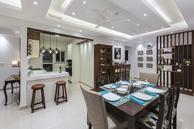 False Roof Design For Living Room Contemporary Dining Room