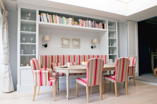 Danish Dining Room Photo In London With Light Wood Floors