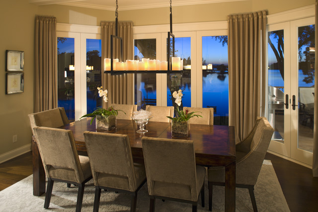 Family Rooms traditional-dining-room