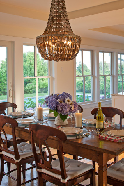 Family Style Beach House traditional dining room