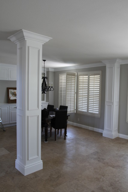 Fancy Columns Traditional Dining Room San Diego By