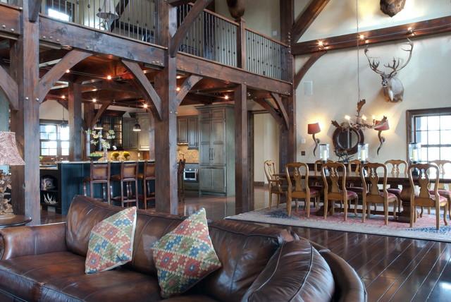 Farm house in Northeast Missouri rustic-dining-room
