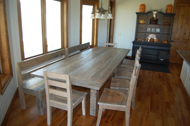 Farm Table Rustic Dining Room Orlando By Gleman And Sons Custom Woodw