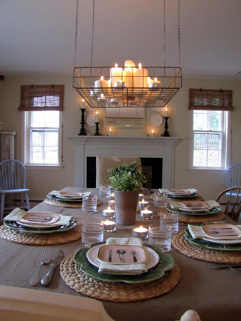 Farmhouse casual for Casual dining lighting