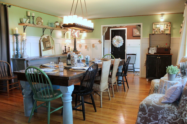 Farmhouse Dining Room Shabby Chic Style Dining Room