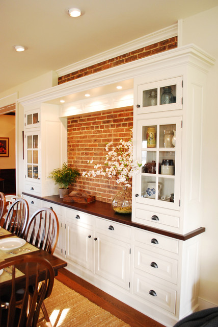 Farmhouse Kitchen Renovation Traditional Dining Room