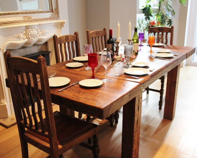farmhouse reclaimed wood dining tables by modish living rustic dining