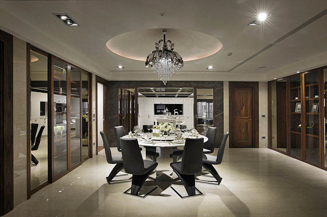 Fashion house contemporary dining room other metro for Household design company