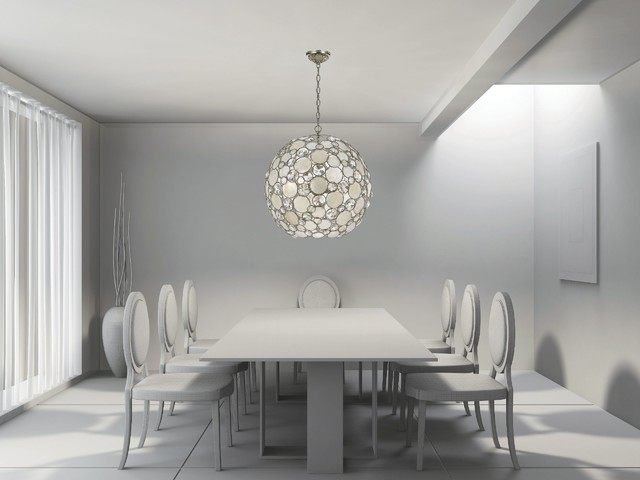Fashionable Soft Contemporary And Modern Lighting Dining Room