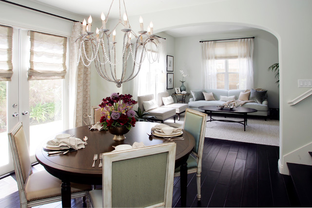 Fashionistas French Inspired Beach Pad traditional-dining-room