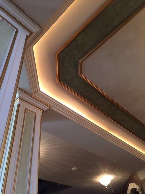 Inspiration for a southwestern living room remodel in Cincinnati