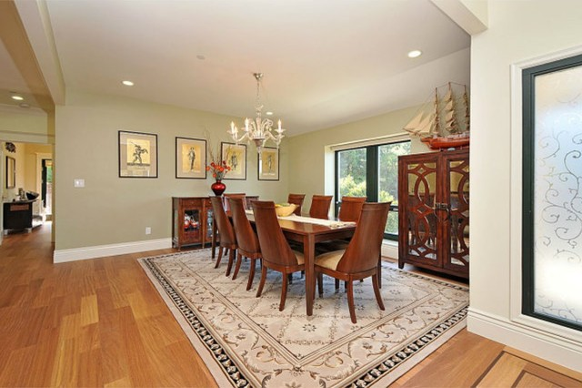 Feng shui dream home in hillsborough contemporary Feng shui dining room colors