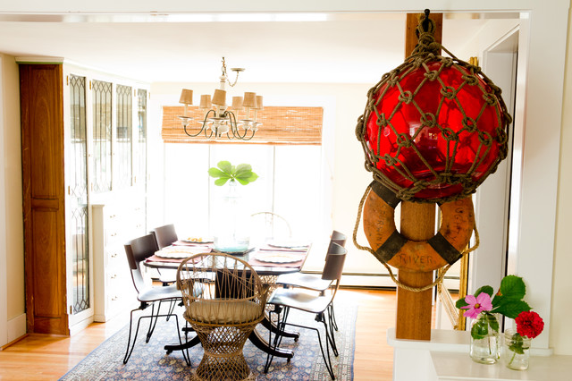 eclectic dining room by Landing Design & Development