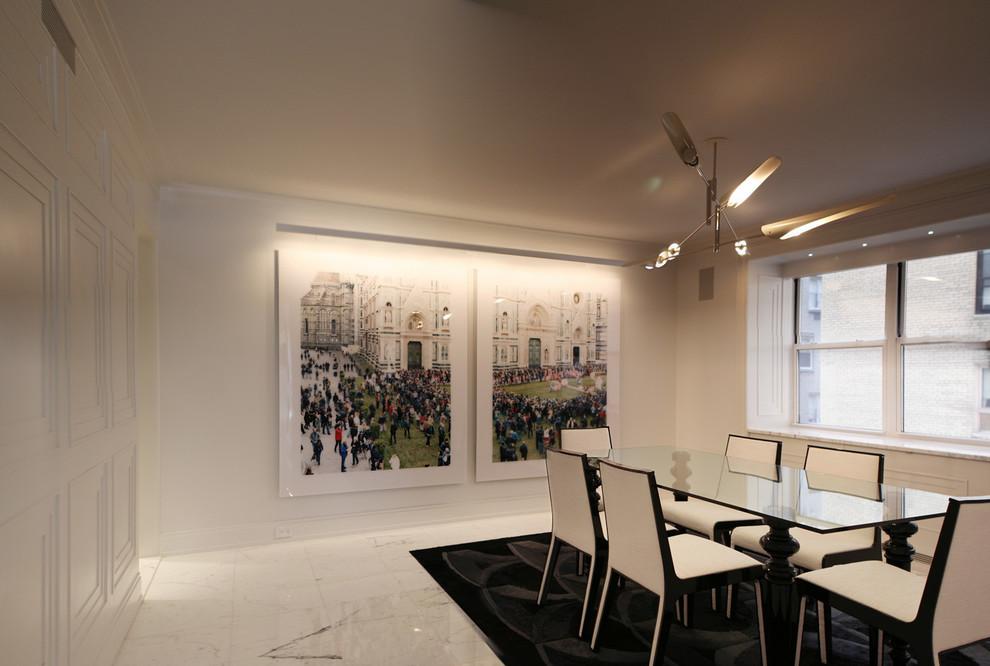Dining room - contemporary dining room idea in New York