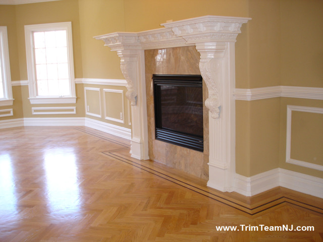 Fireplace Mantles Dining Room By Trim Team NJ
