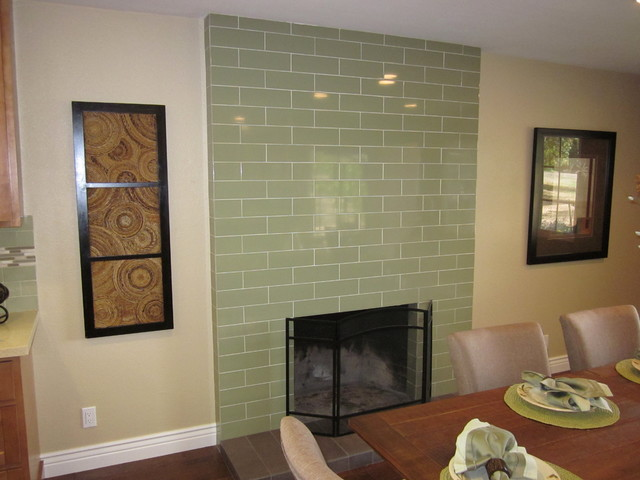 Fireplace upgrade after transitional dining room for Dining room upgrades