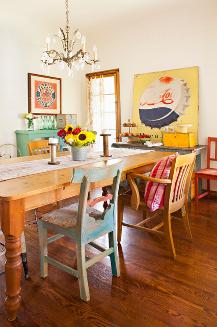 Flea Market Style shabby-chic-style-dining-room