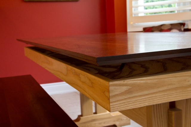 Floating Design Table with Bench traditional-dining-room