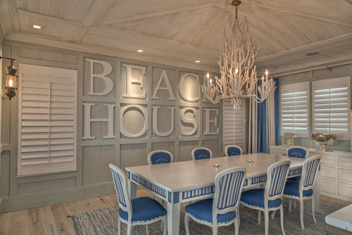Decorating with signs town country living for Beach house look interior design