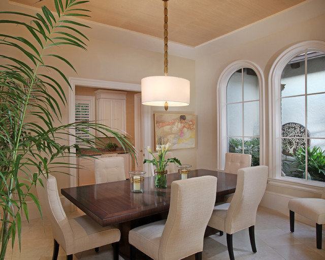 Florida vacation home dining room contemporary dining room for Dining room pendant lights
