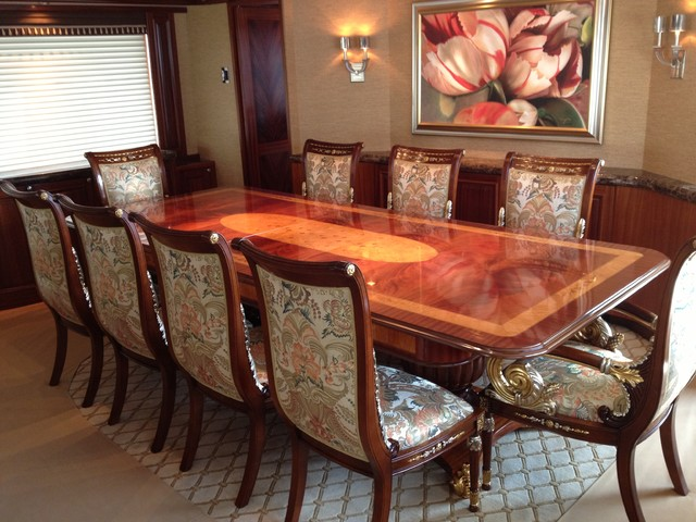 Traditional Wood Dining Tables florida yacht - dining room - traditional - dining room - miami